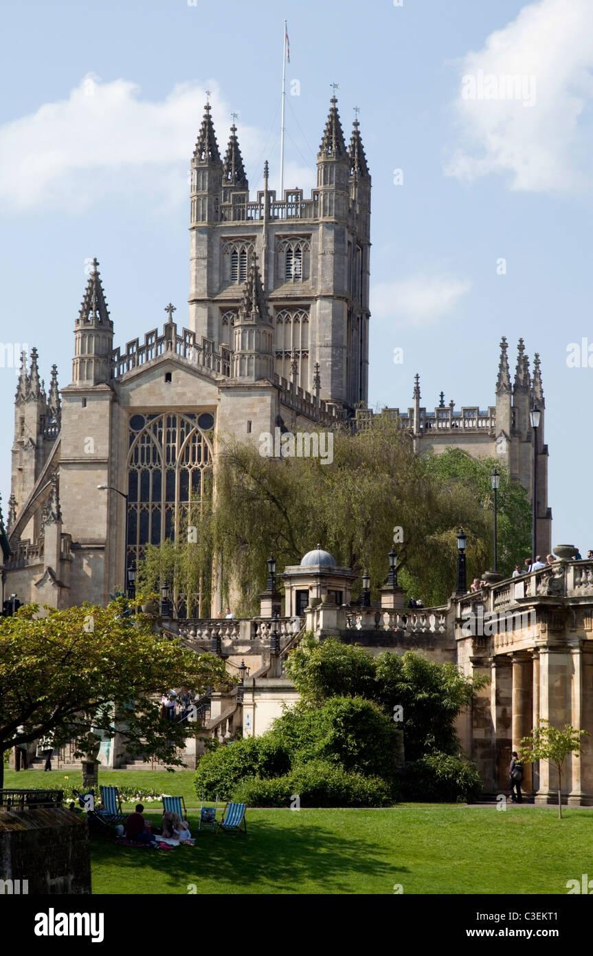 Bath Abbey Somerset England - Stock Image