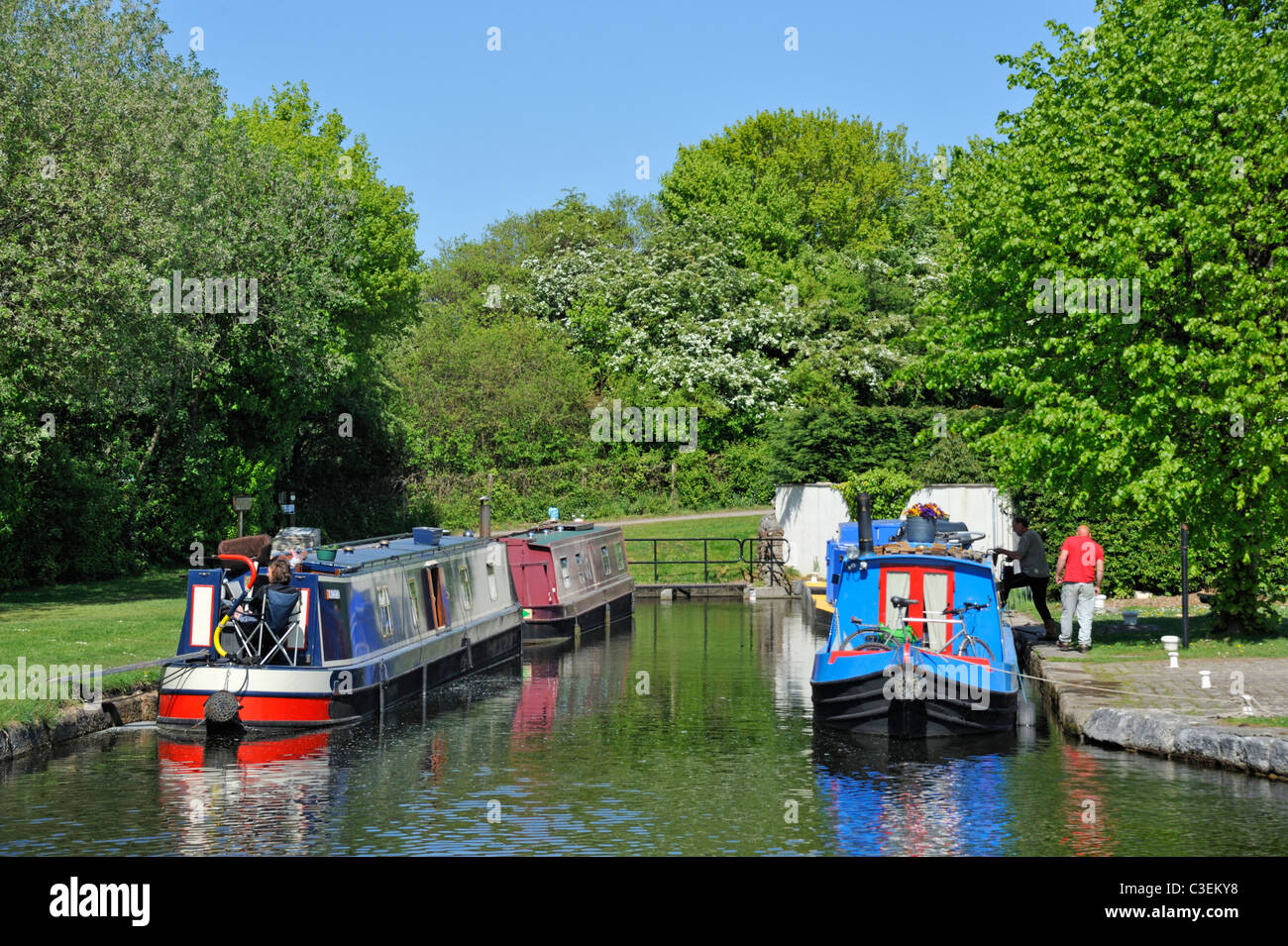 Termination of the Southern Reach of the Lancaster to Kendal canal. Tewitfield, Cumbria, England, United Kingdom, - Stock Image