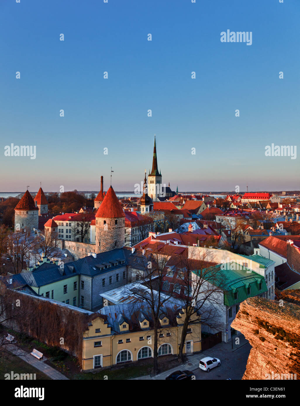 Estonia - The city of Tallinn at sunrise - Stock Image
