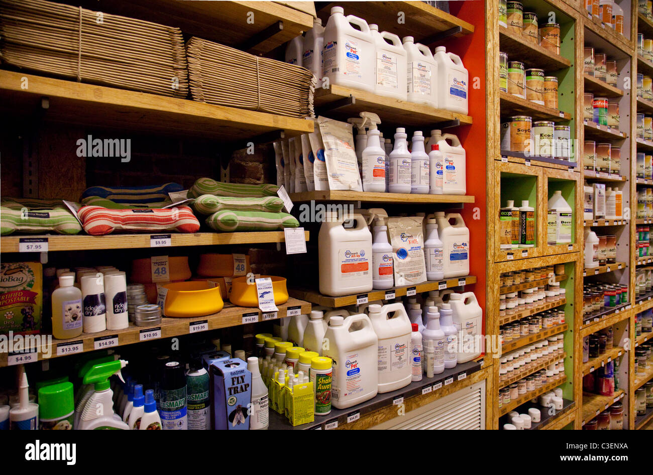 Green house product display - Stock Image