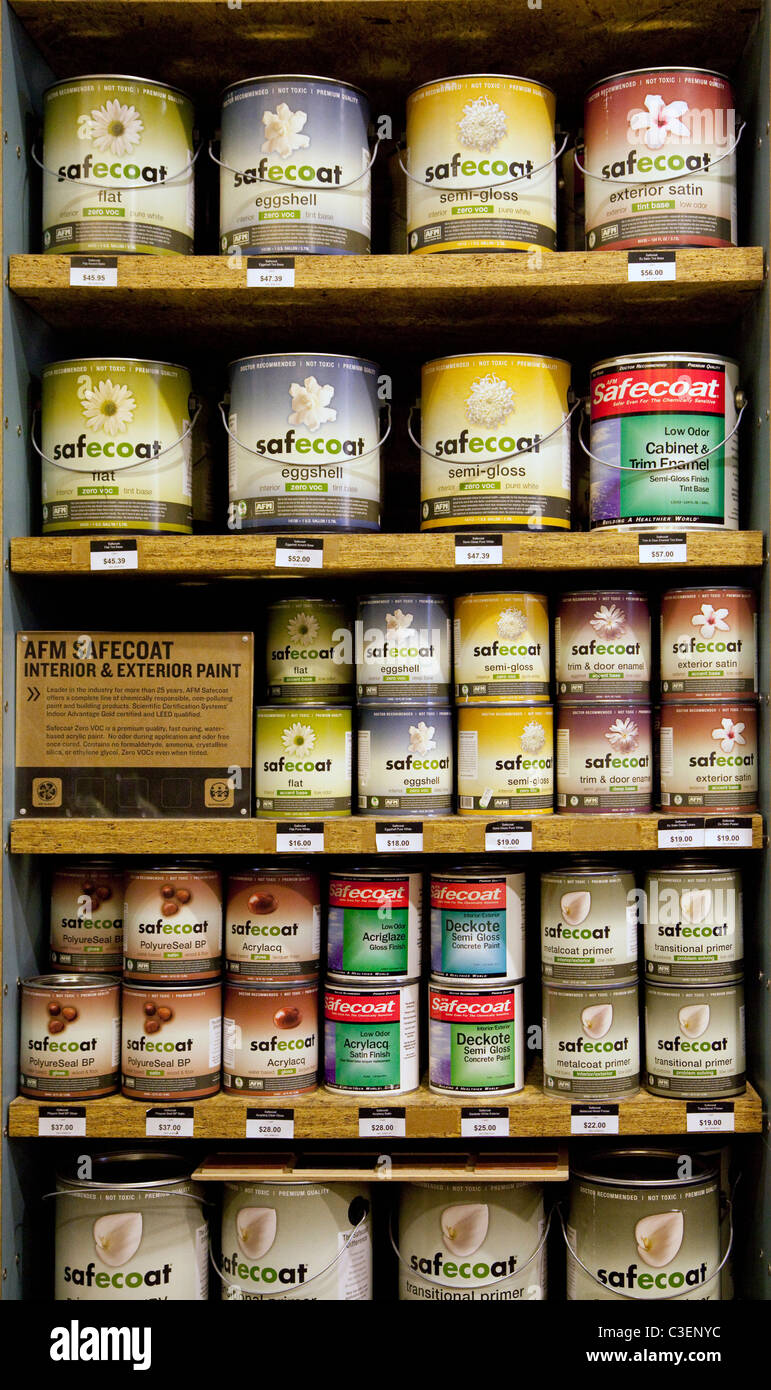 Green house paint display - Stock Image
