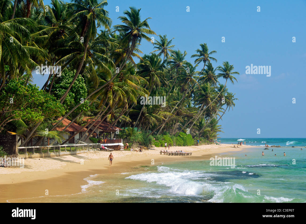 Uncrowded Beach With Crystal Clear Water Stock Photos & Uncrowded