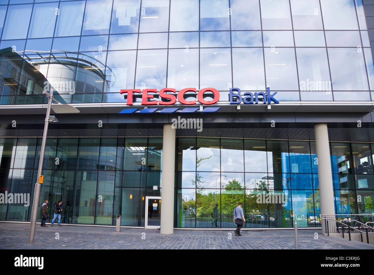Front of Tesco Bank contact centre in Broadway One, Renfield Street, Glasgow - Stock Image