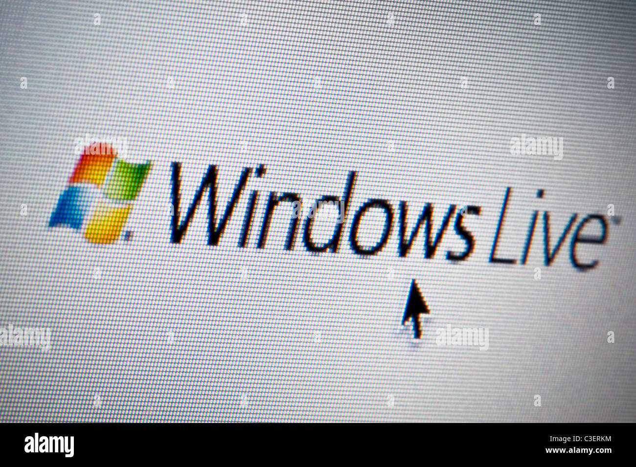 Close up of the Windows Live logo as seen on its website. (Editorial use only: print, TV, e-book and editorial - Stock Image
