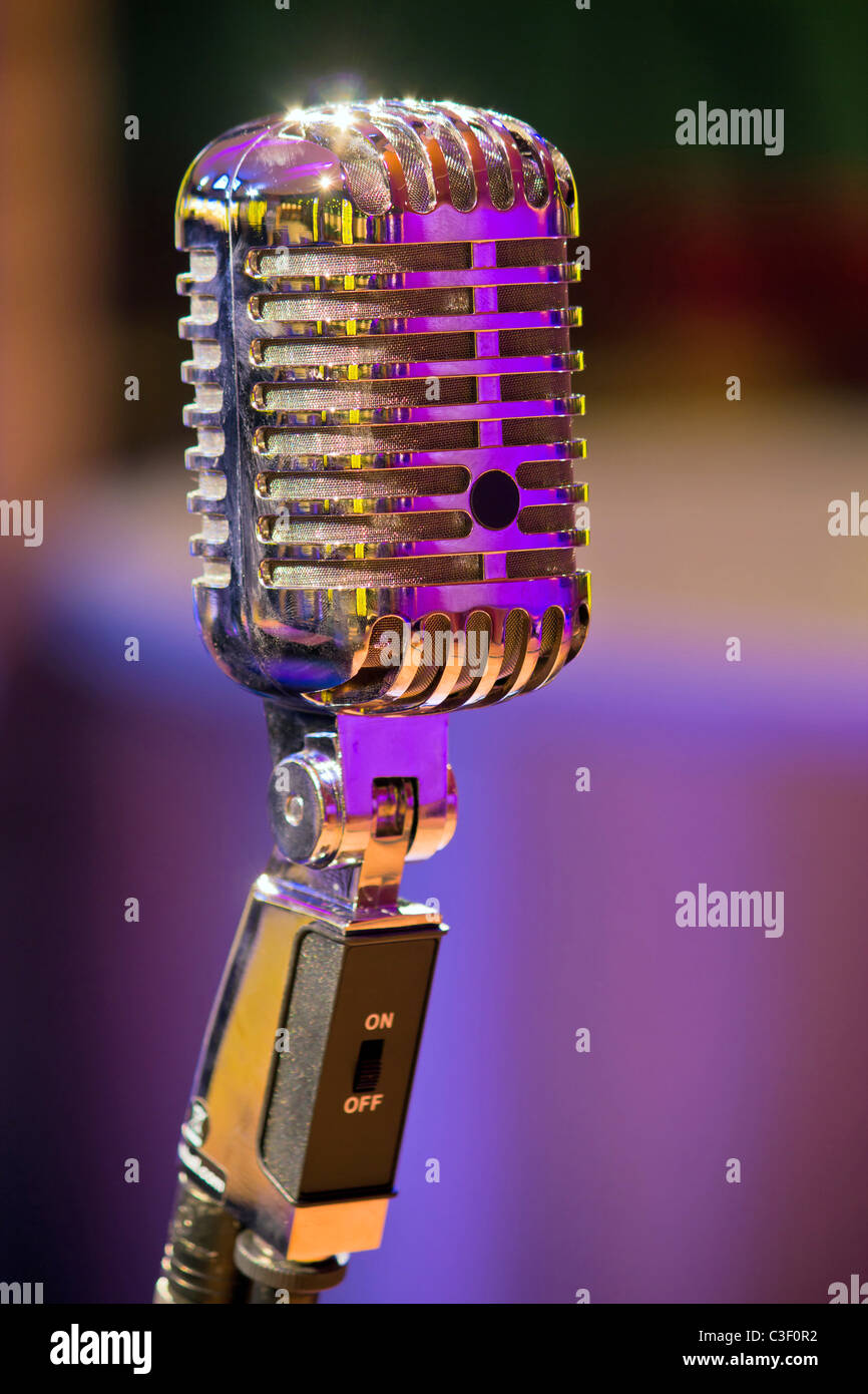 classic microphone - Stock Image