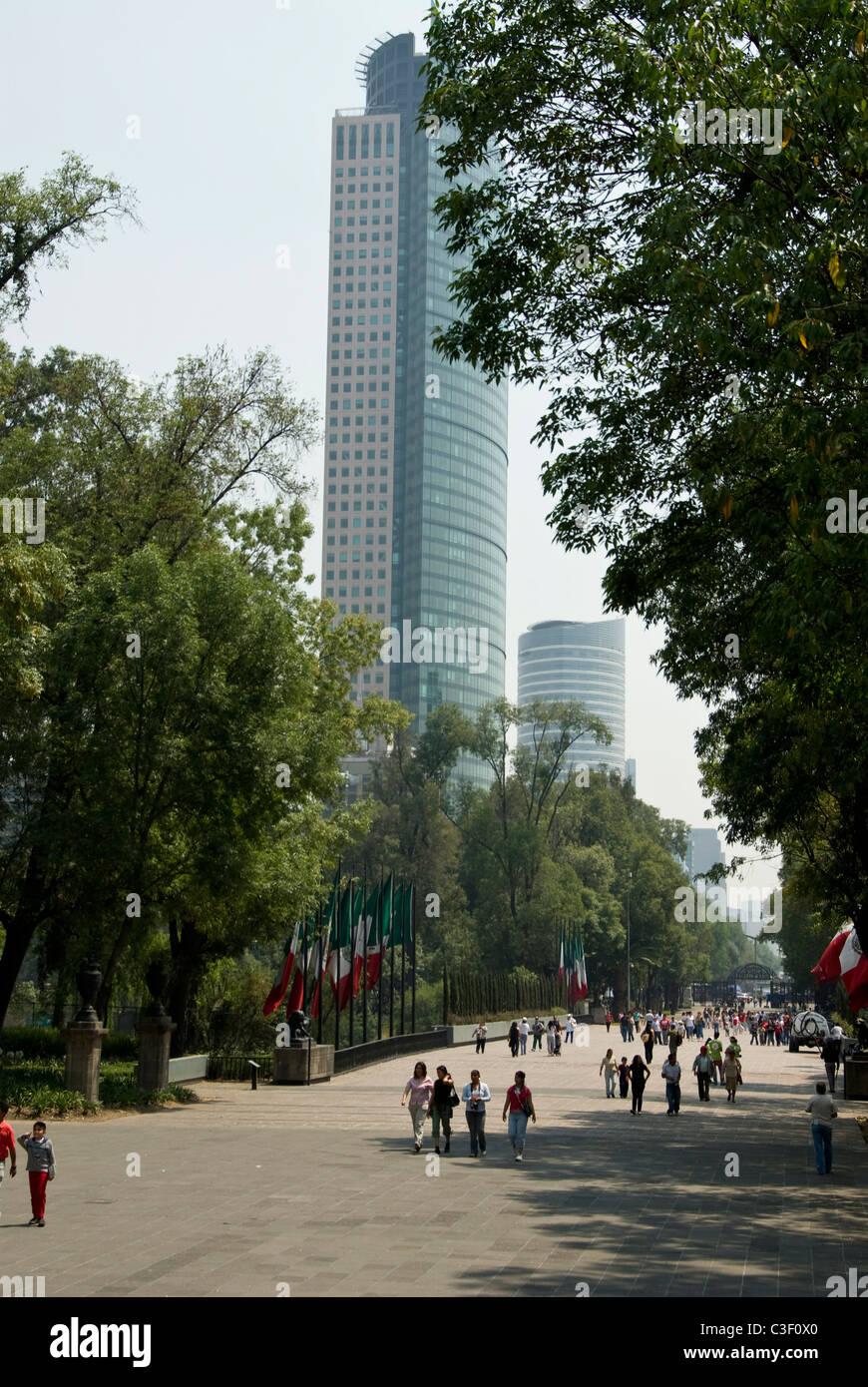 Mexico city. Chapultepec Park. Juventud Heroica avenue. - Stock Image
