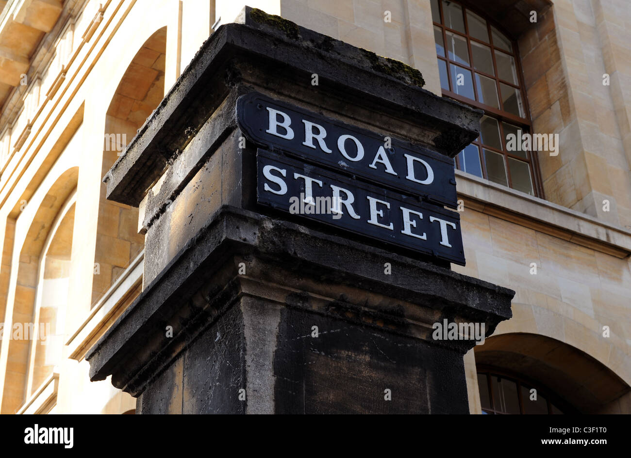 Broad Street, Oxford, road name sign - Stock Image