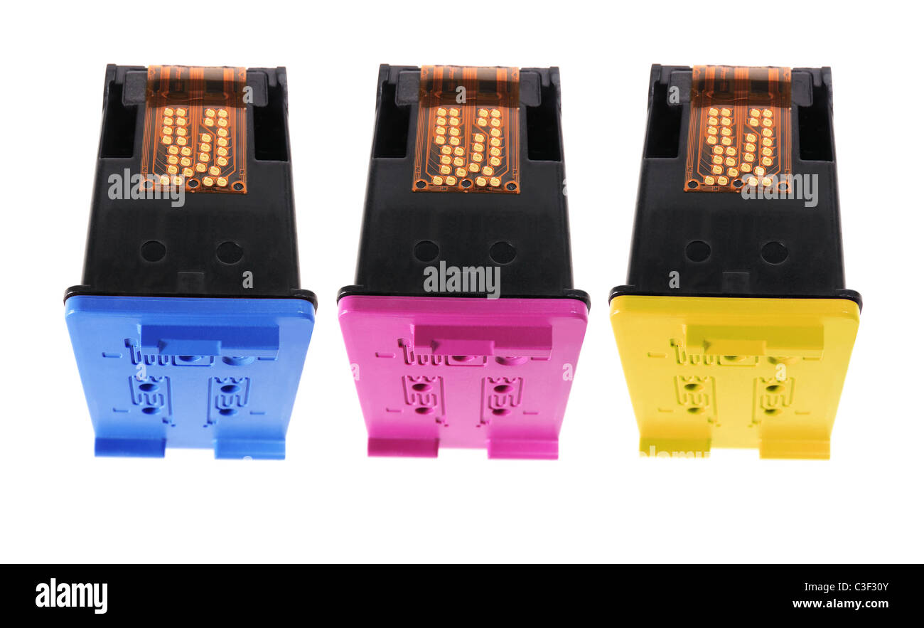 Colour Ink Cartridges - Stock Image