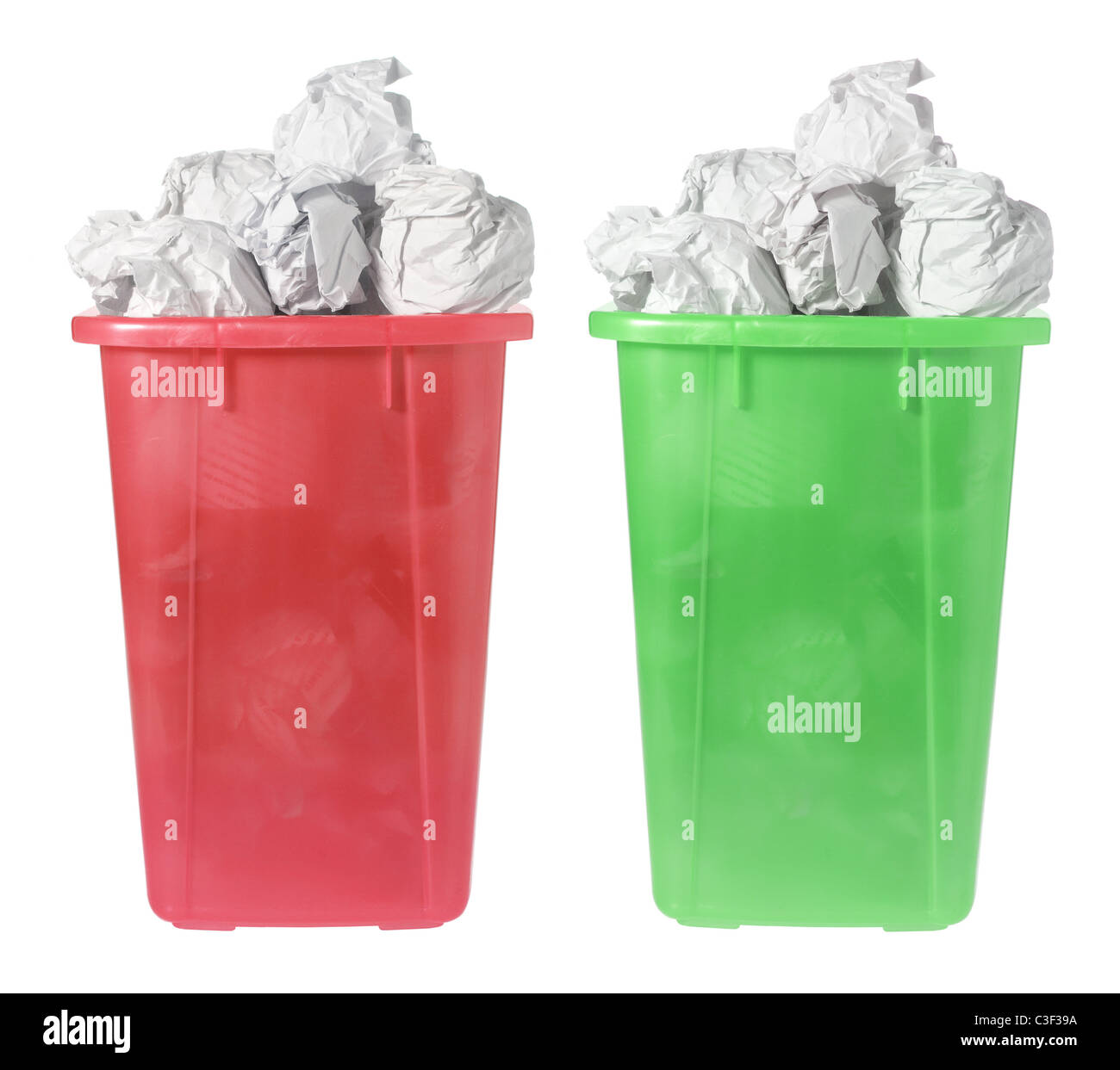 Waste Paper Bins Stock Photo