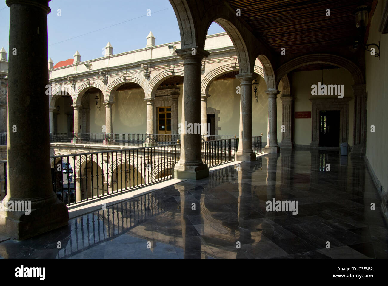 Mexico.Mexico city .Old Palace of the Medicine. - Stock Image