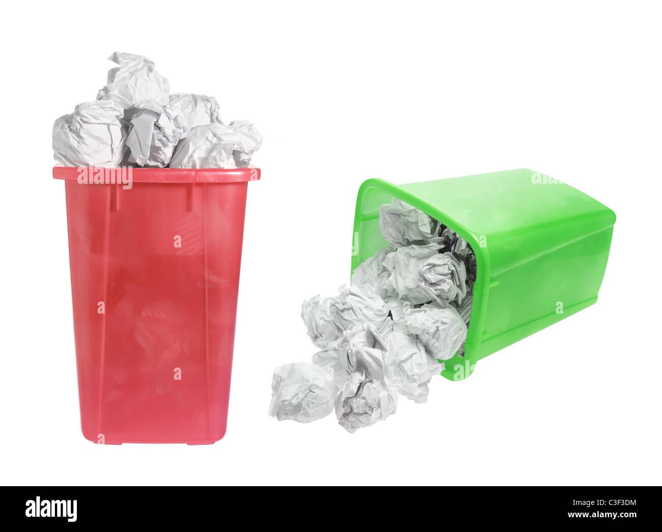 Waste Paper Bins Stock Photo
