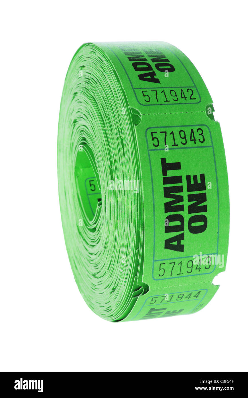 Roll of Movie Tickets - Stock Image