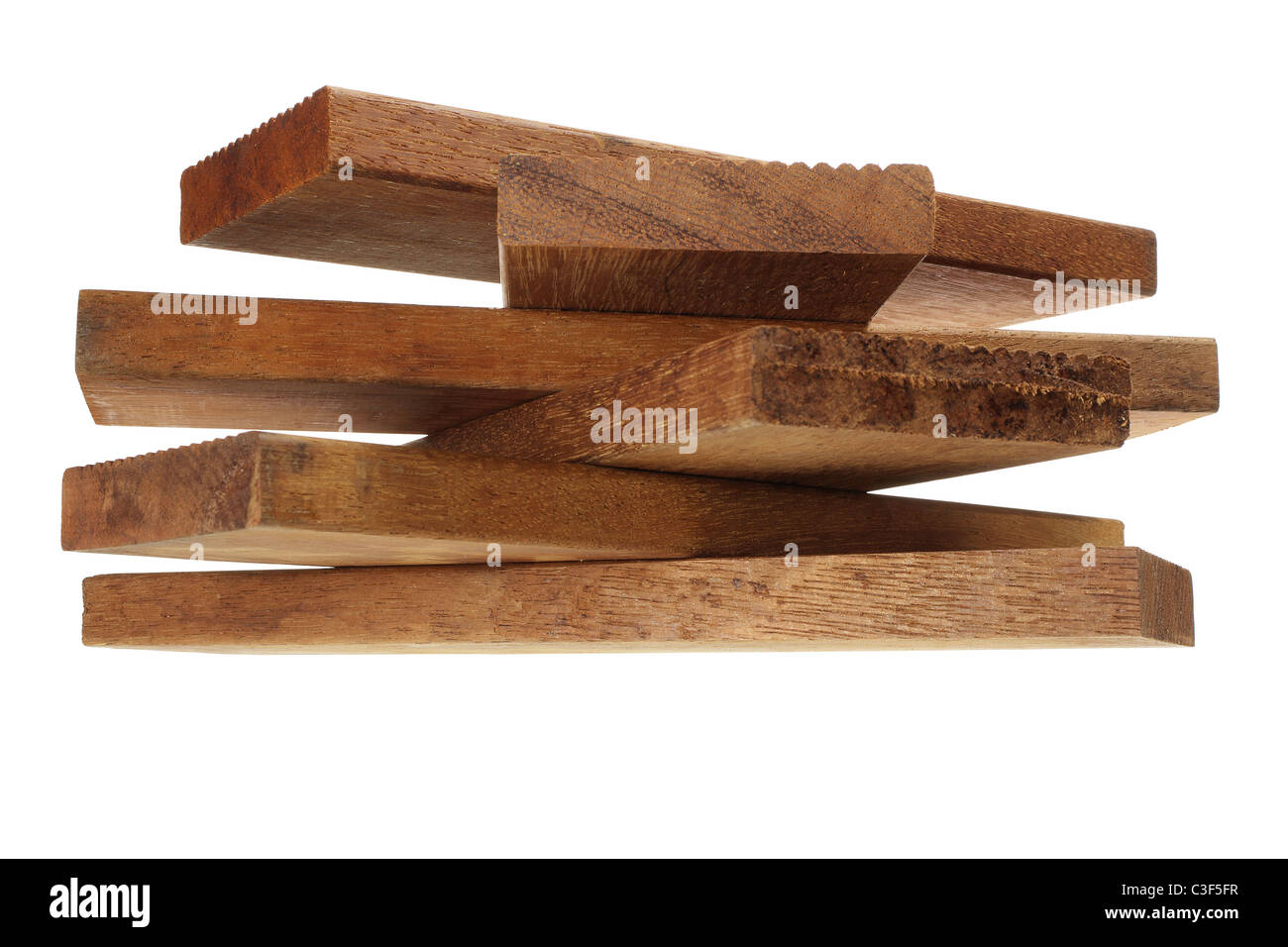 Stack of Wooden Planks - Stock Image