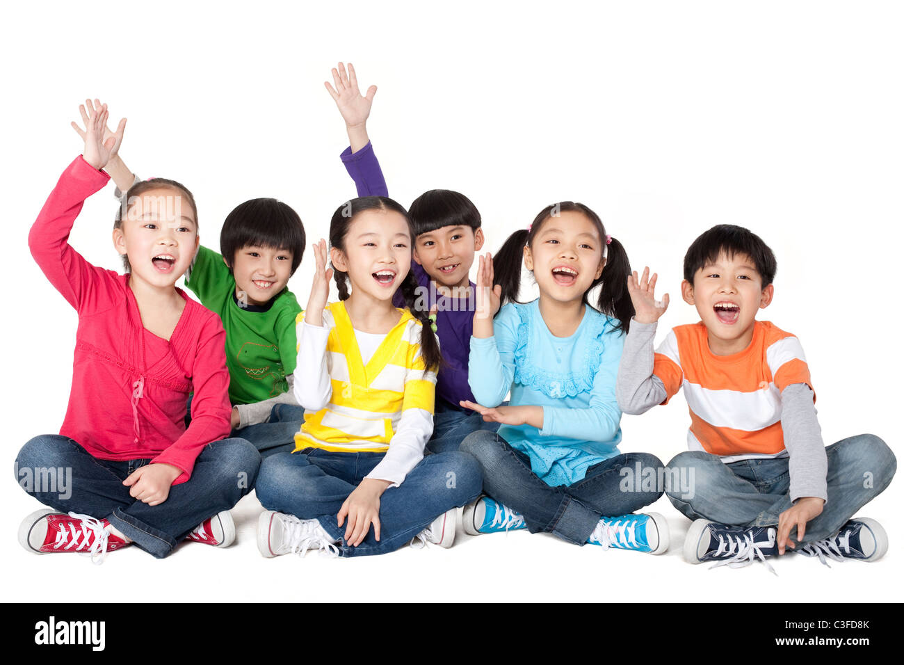 Excited children Stock Photo
