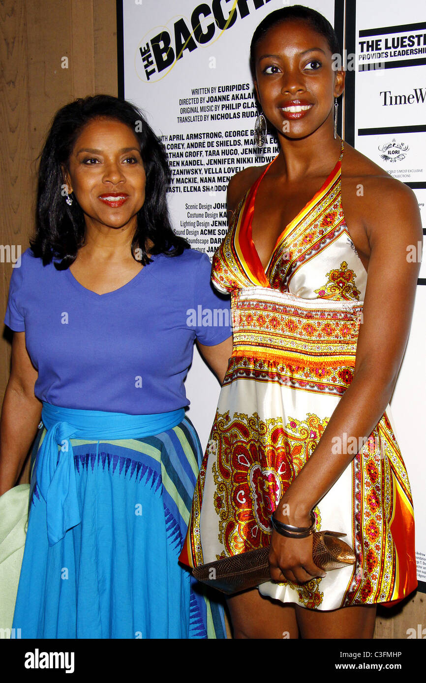 Phylicia Rashad and her daughter Condola Phyleia Rashad Opening Night of 'The Bacchae' at the Delacorte Theater Stock Photo