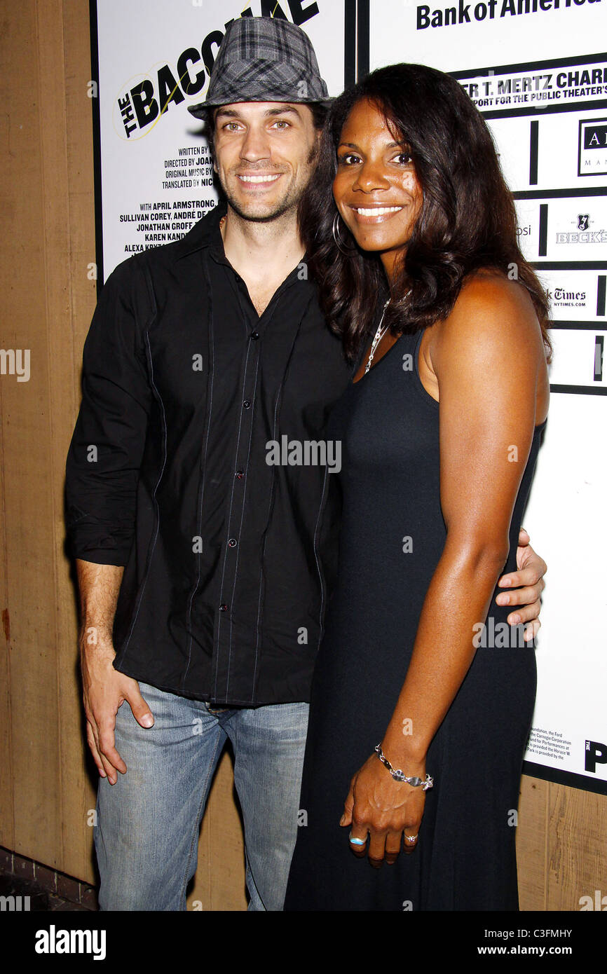 Will Swenson and Audra McDonald Opening Night of 'The Bacchae' at the Delacorte Theater in Central Park New York Stock Photo