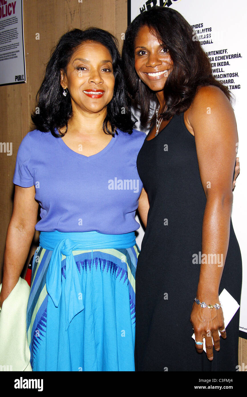 Phylicia Rashad and Audra McDonald Opening Night of 'The Bacchae' at the Delacorte Theater in Central Park New York Stock Photo