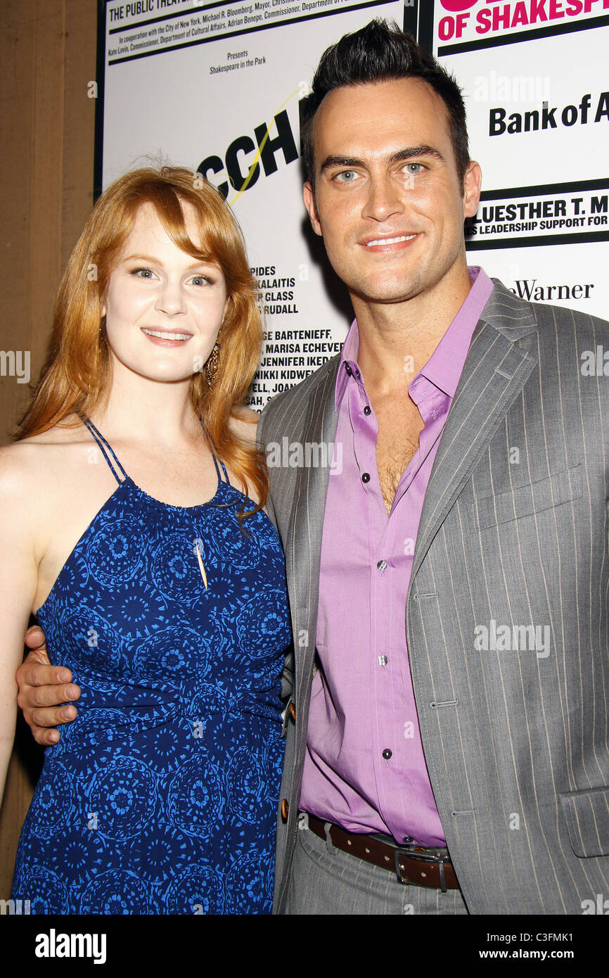 """Kate Baldwin and Cheyenne Jackson from the upcoming Broadway musical """"Finian's Rainbow"""" Opening Night of 'The Bacchae' Stock Photo"""