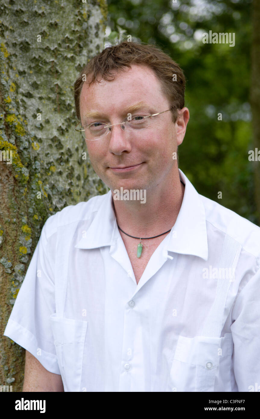 Dr Dylan Evans (b1966) set up the Utopia experiment in a secret location in Scotland to explore the the breakdown - Stock Image