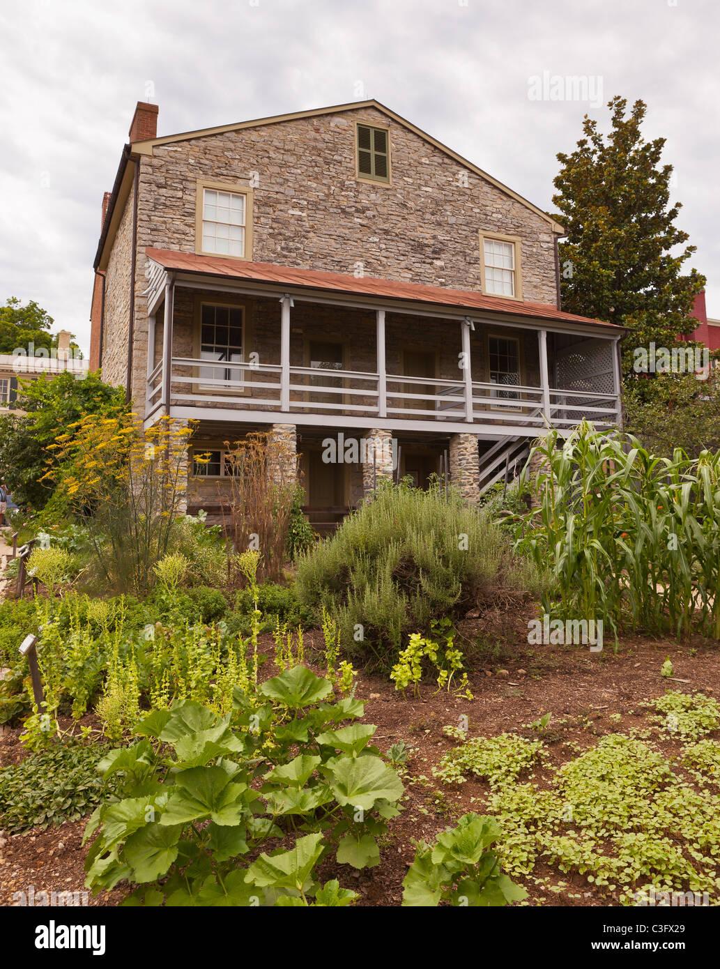 LEXINGTON, VIRGINIA, USA - Stonewall Jackson House and garden Stock ...
