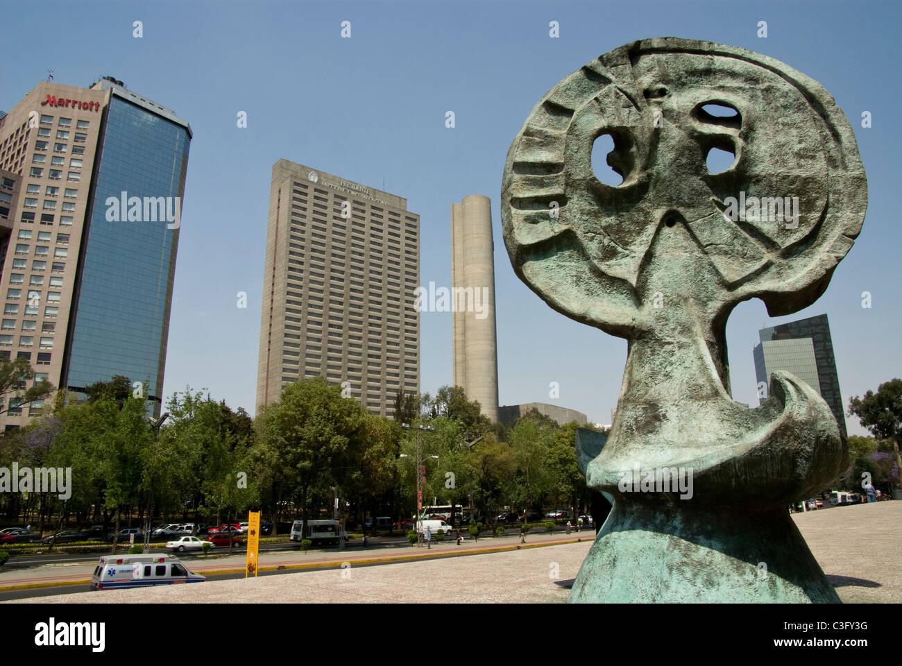 Mexico.Mexico city. Paseo de La Reforma. - Stock Image