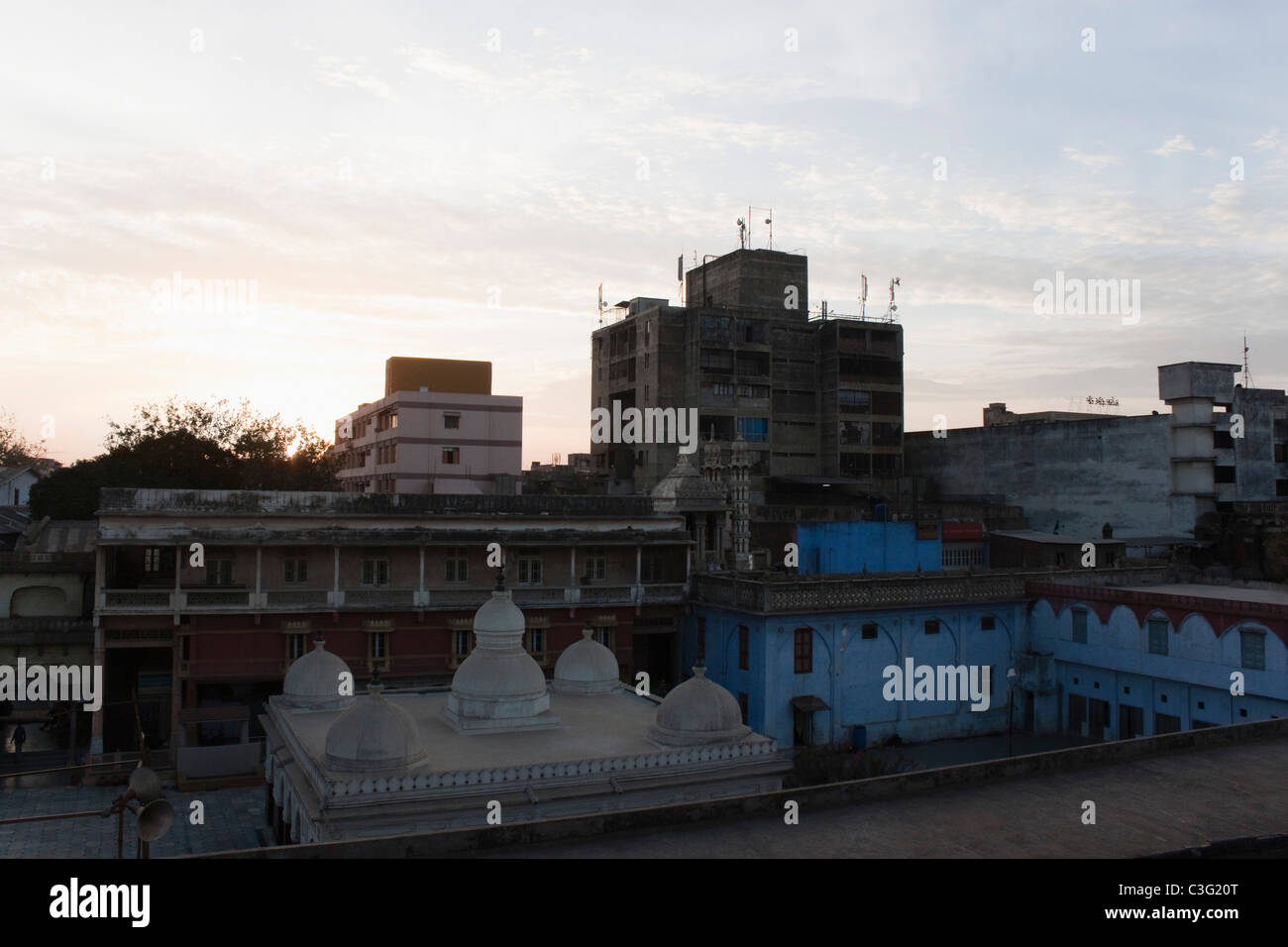 Buildings in a city, Ahmedabad, Gujarat, India - Stock Image