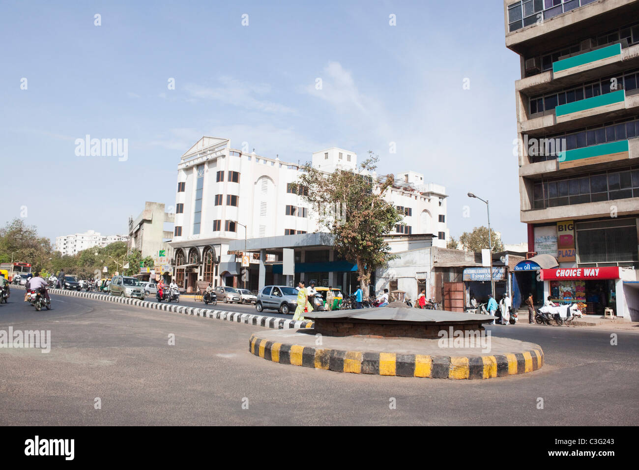 Buildings in a city, Ahmedabad, Gujarat, India Stock Photo