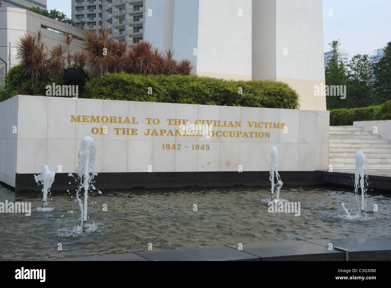 Memorial to the civilian victims of the Japanese occupation 1942-1945 - Stock Image