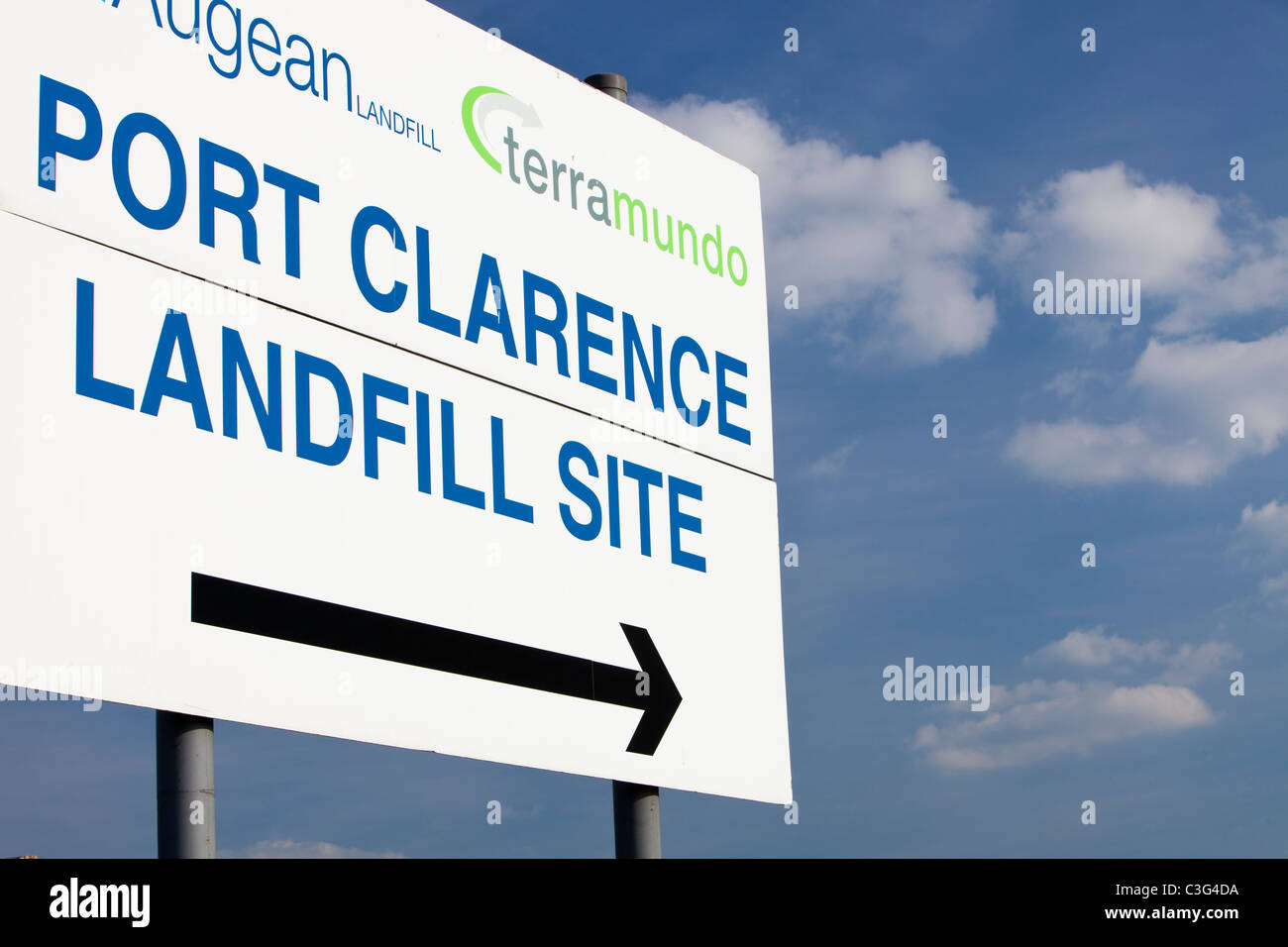 A landfill site on Teeside, UK. It is increasingly difficult to find sites and increasingly expensive to landfill - Stock Image