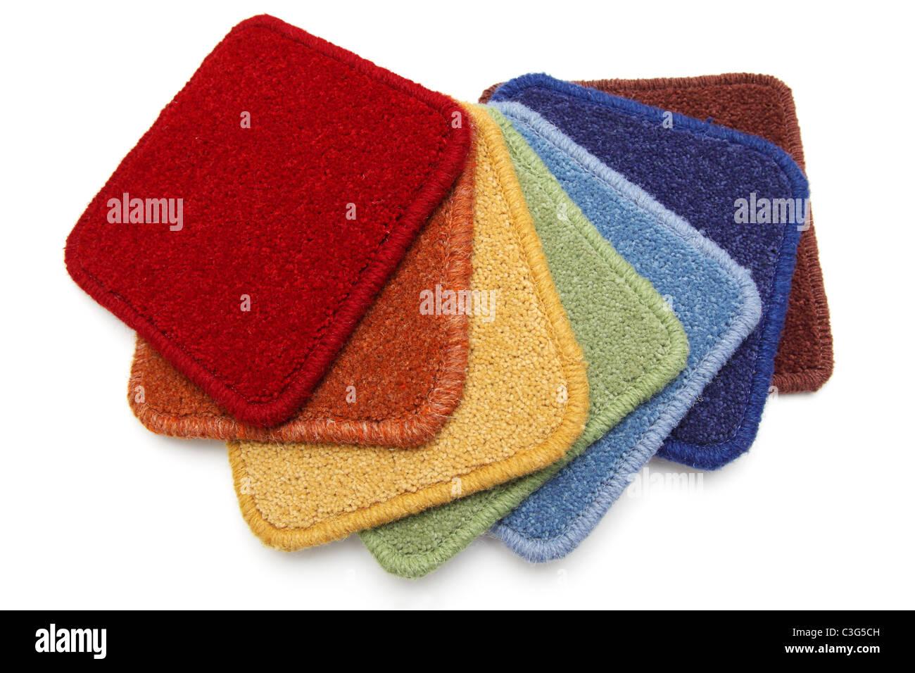 Carpet samples - Stock Image
