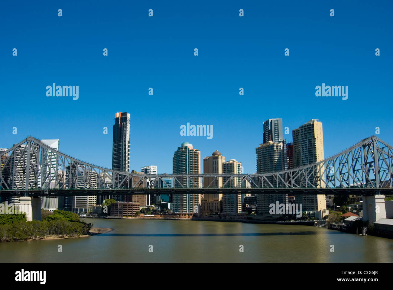 An image of Brisbane City Australia - Stock Image