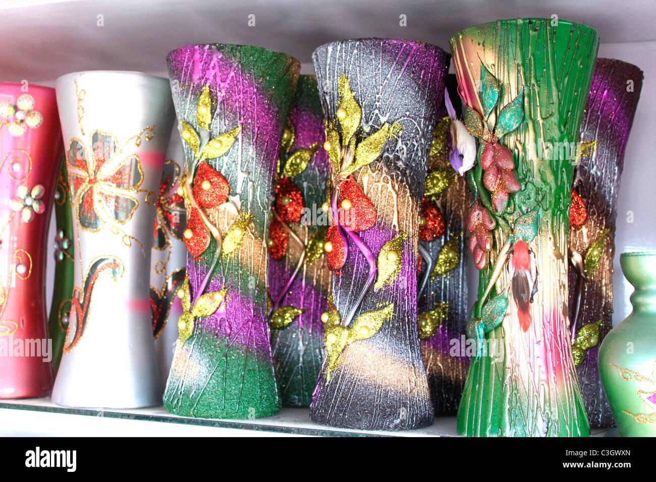 Flower vases - Stock Image