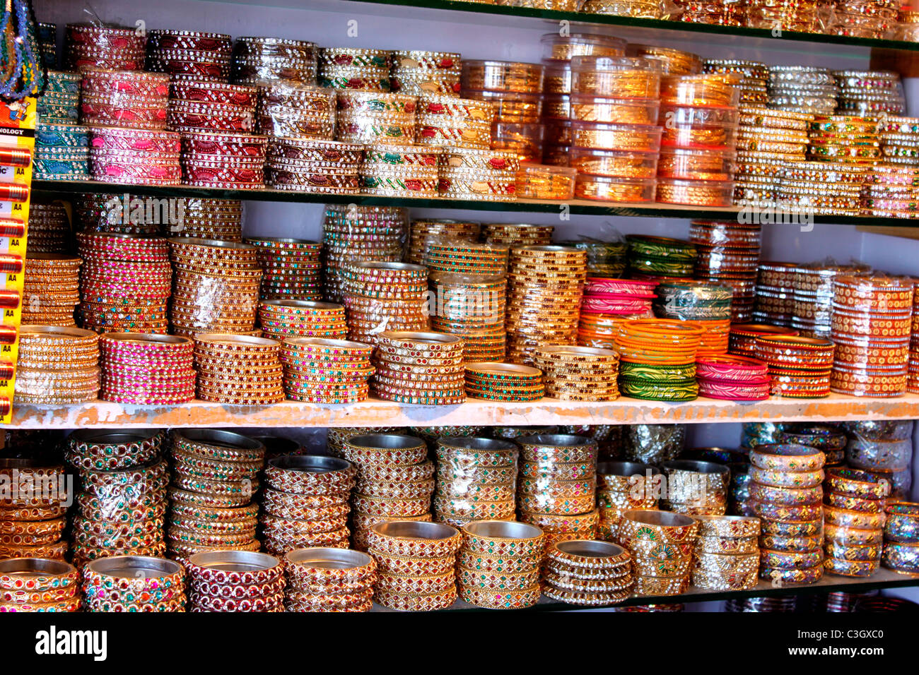 Indian Bangles on display - Stock Image