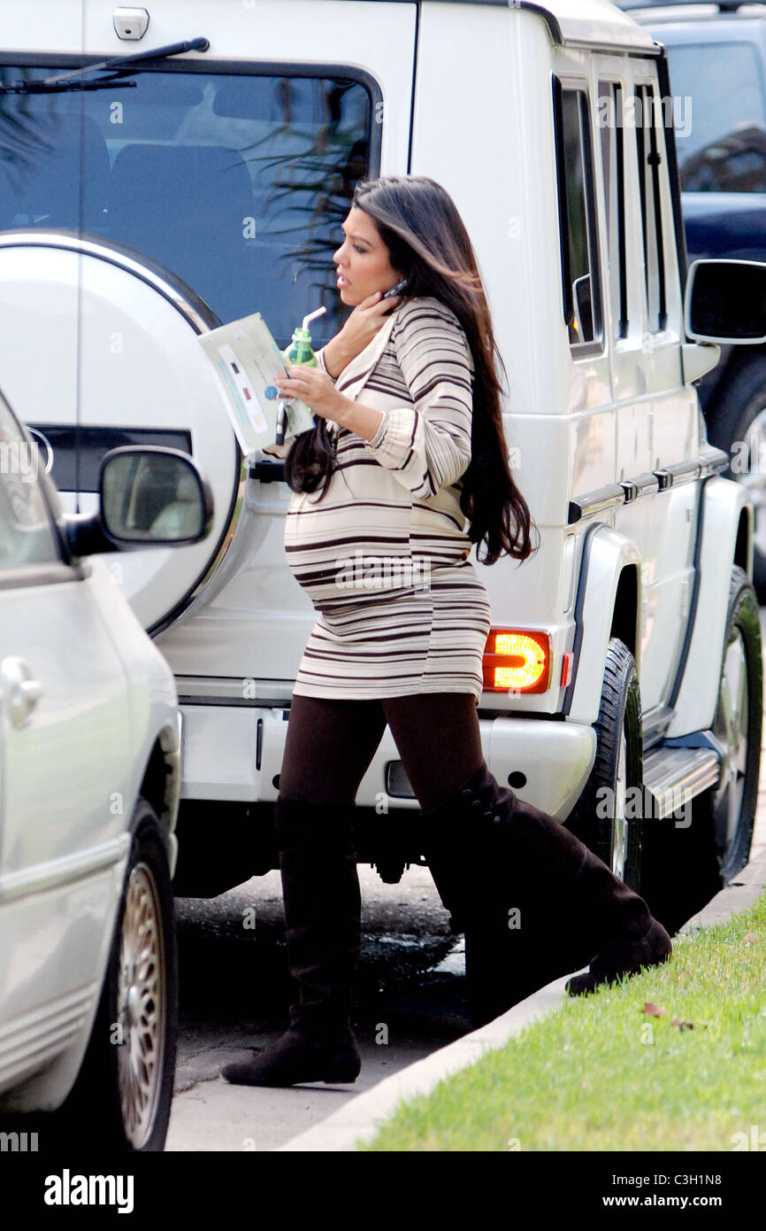 b05bf2a9e2 Kourtney Kardashian leaving a baby store with her mother in West Hollywood  while filming their reality show  Keeping Up with