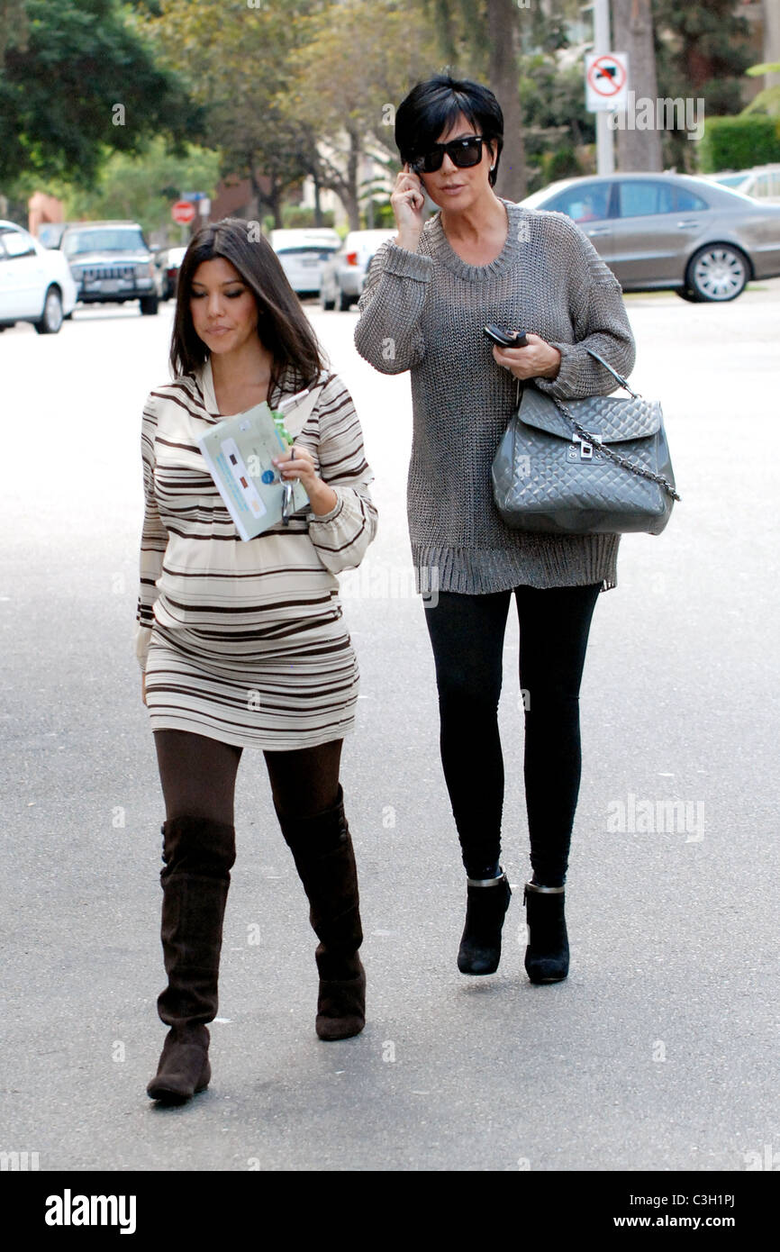 55bdffc6d5 Kourtney Kardashian and Kris Jenner leaving a baby store in West Hollywood  while filming their reality show  Keeping Up with