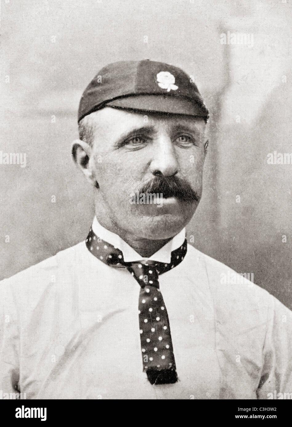 Thomas 'Tom' Emmett, 1841 – 1904. English cricket bowler. - Stock Image