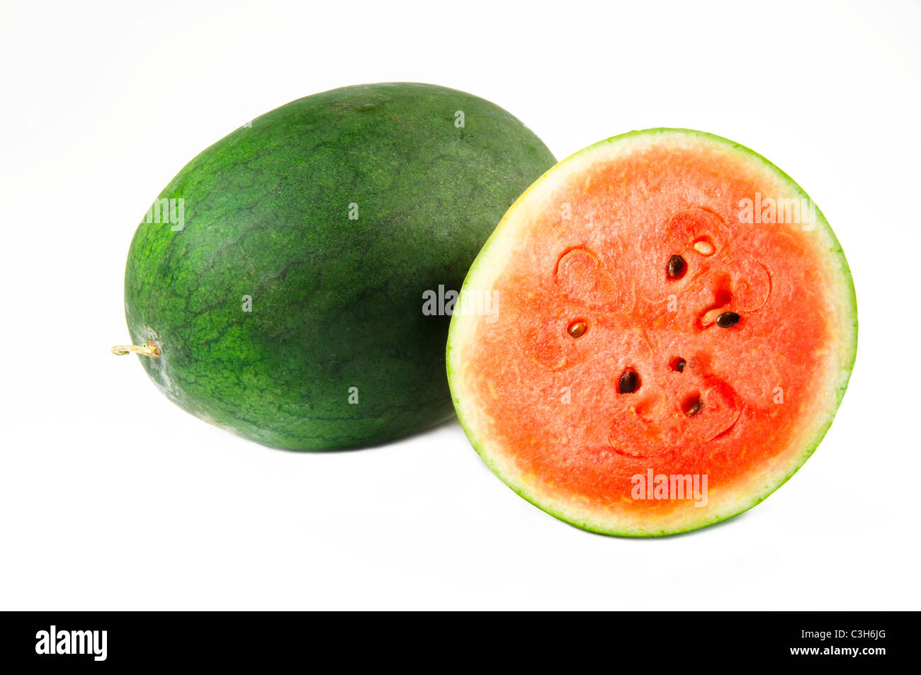 Watermelon on white background - Stock Image