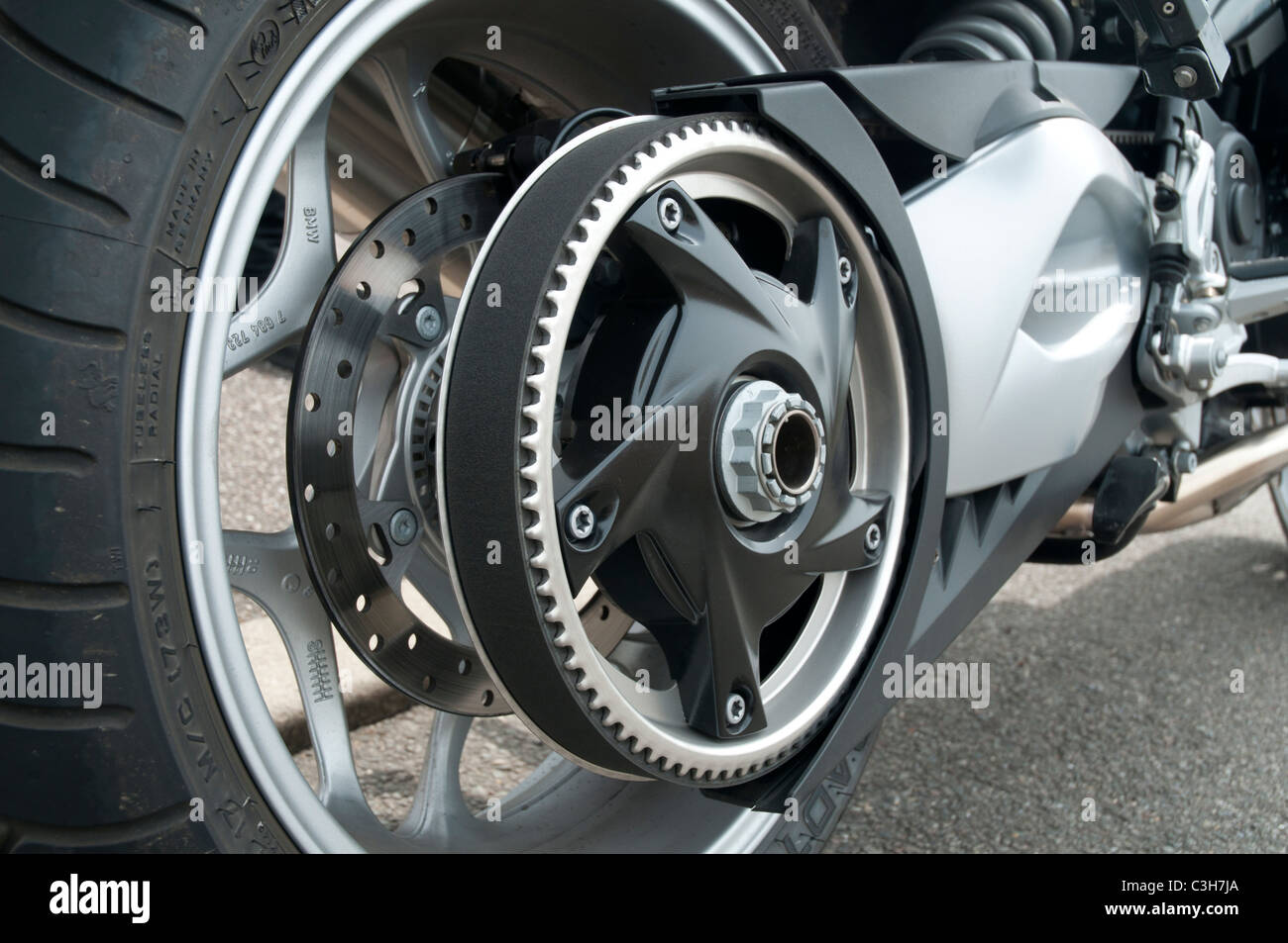 Motorcycle Belt Drive Stock Photo: 36643890 - Alamy