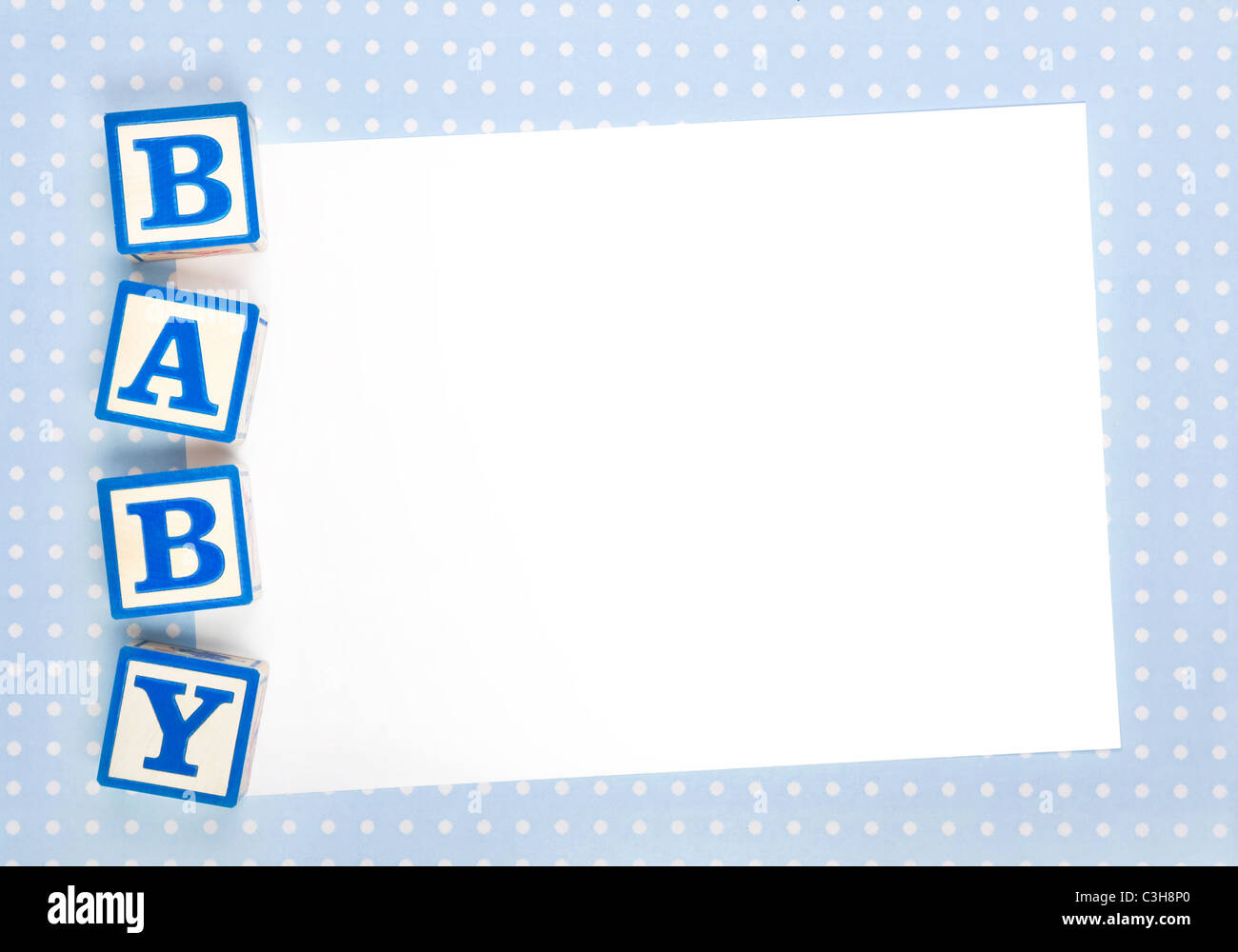 Blank baby announcement - Stock Image