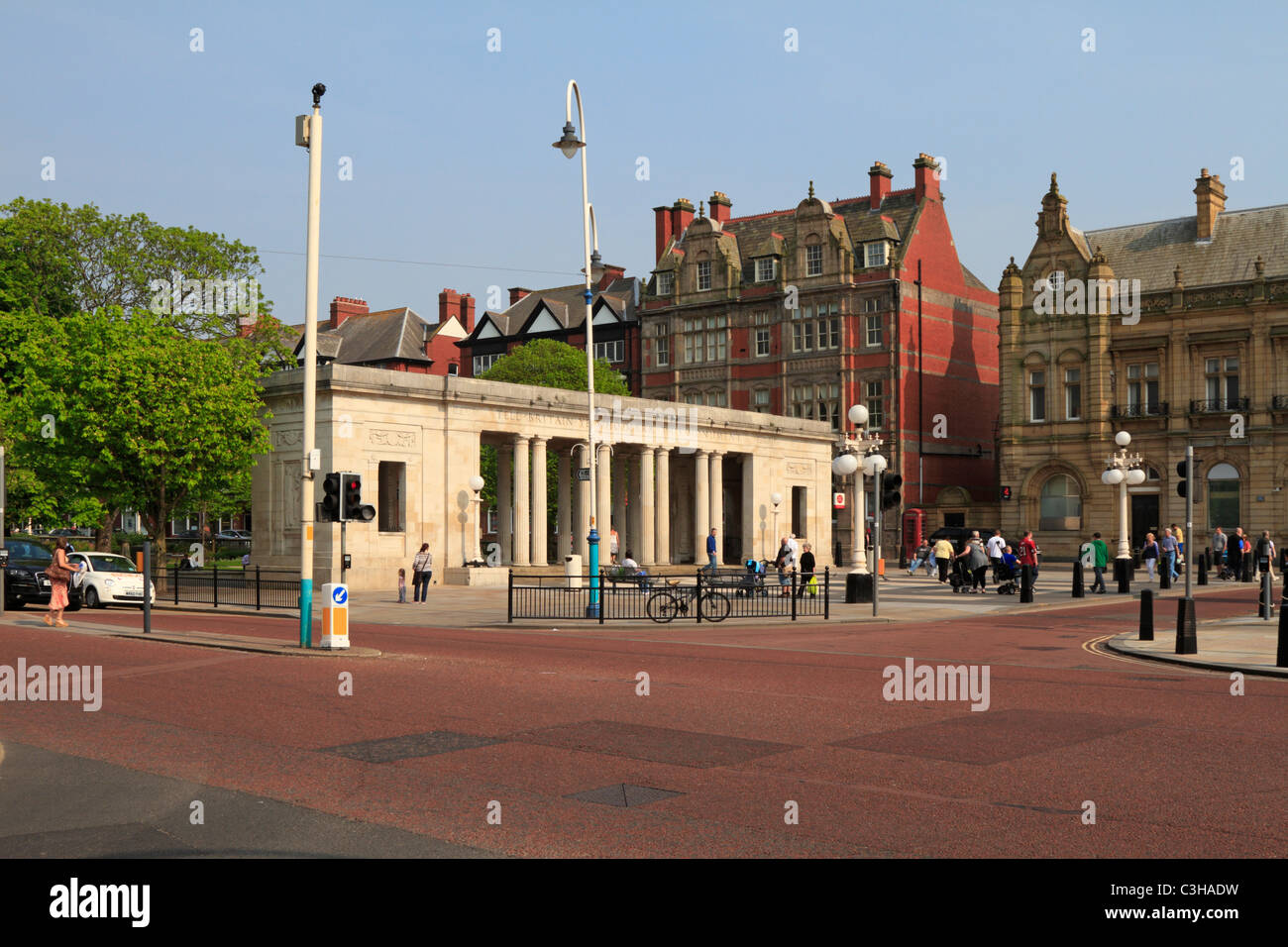 War Memorial on Lord Street, Southport, Merseyside, Lancashire, England, UK. Stock Photo