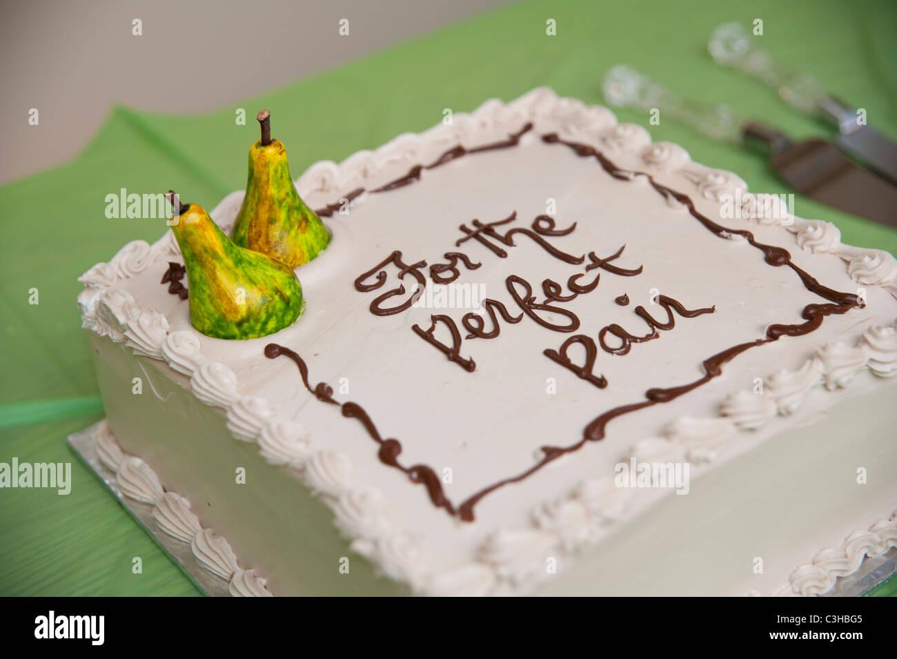 Celebratory Pear Themed Cake Stock Photo 36646965 Alamy