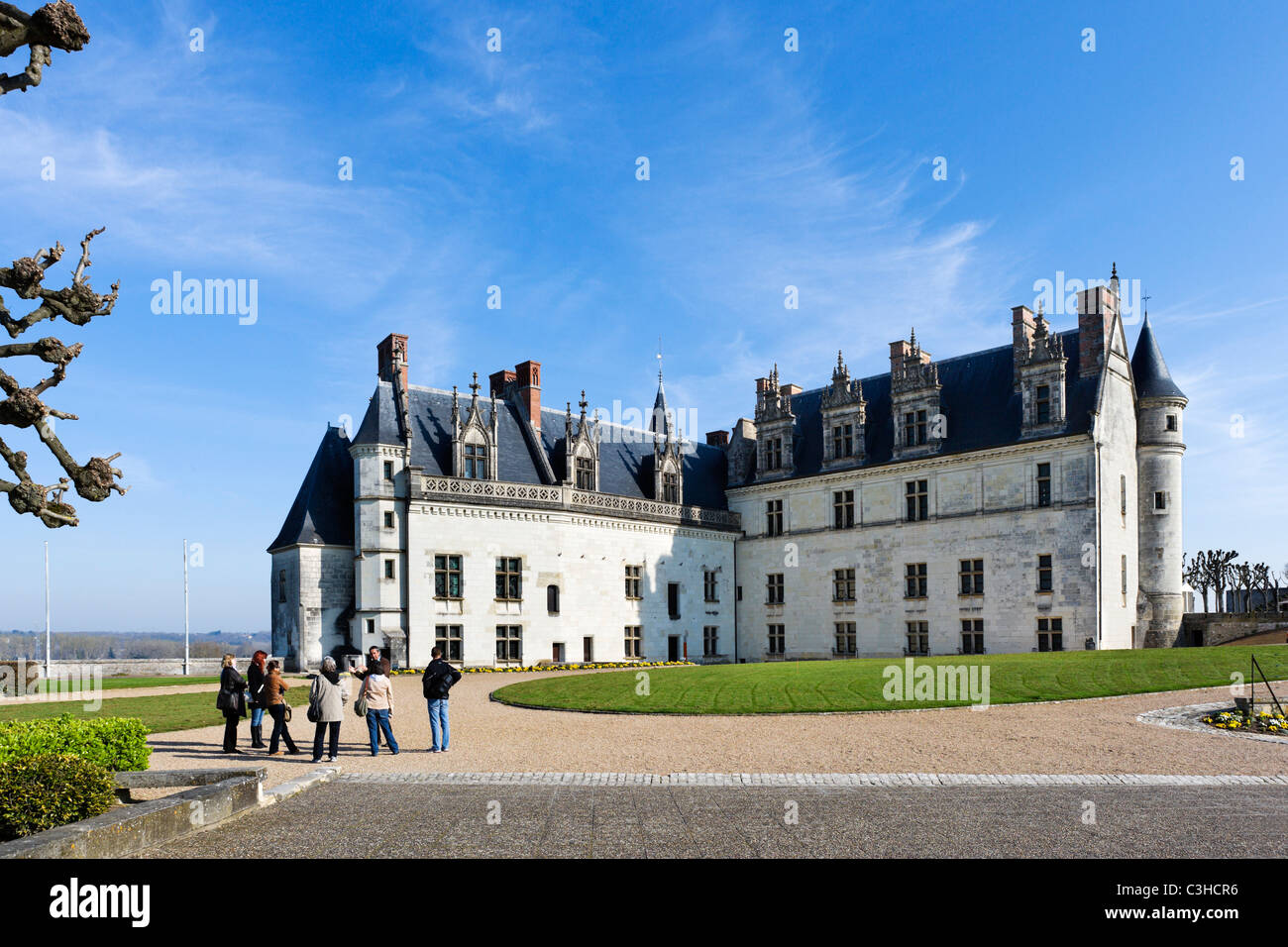 Chateau d'Amboise, Loire Valley, Touraine, France - Stock Image
