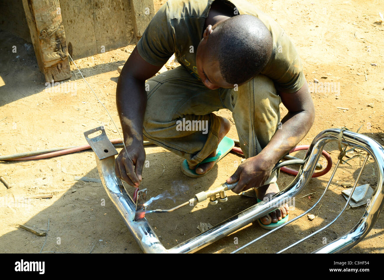 Democratic Republic of Congo in January 2011. - Stock Image
