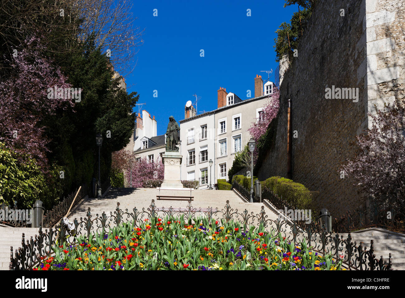 Centre of the old town, Blois, Loire Valley, Touraine, France - Stock Image