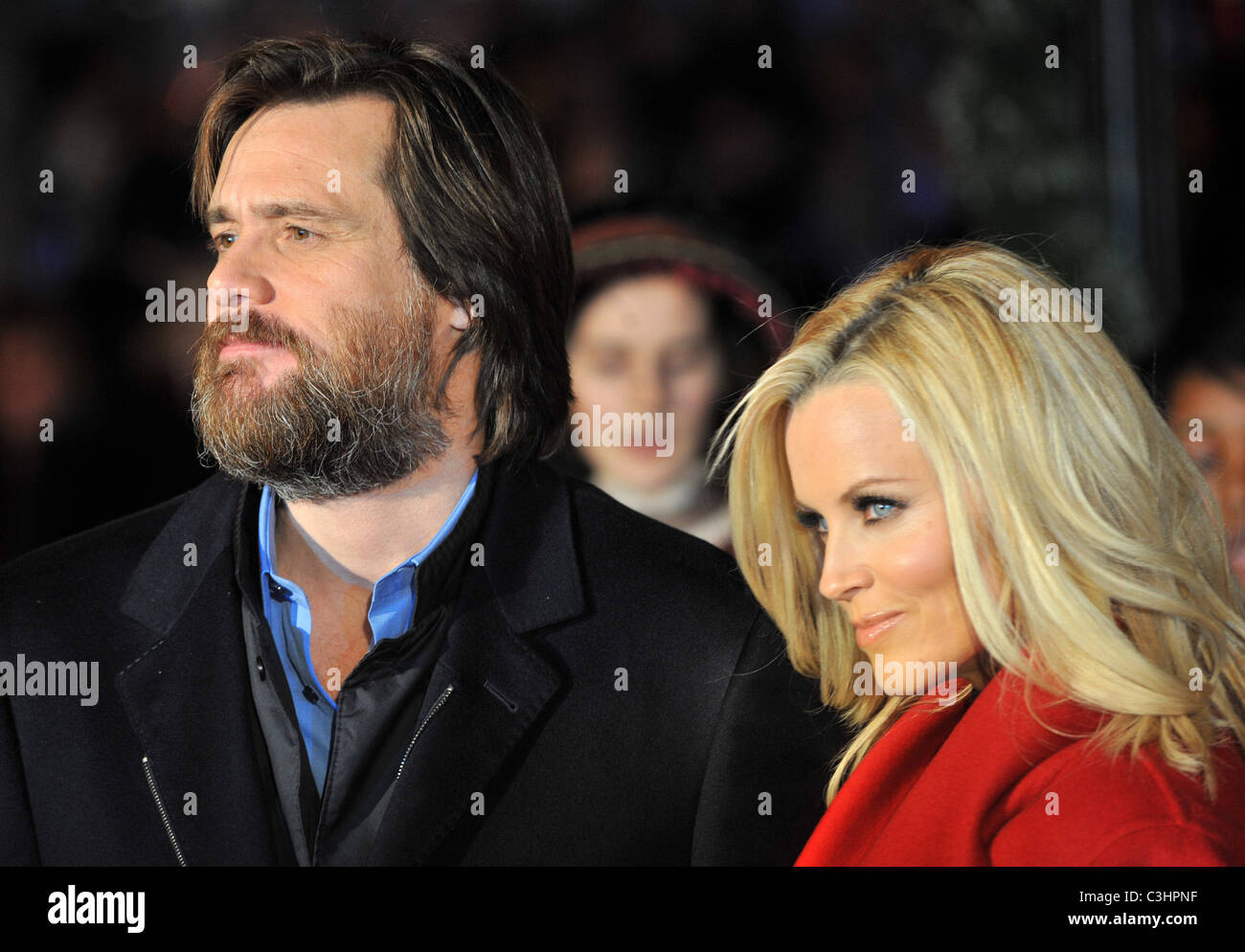 Jim Carrey Christmas Carol.Jim Carrey And Jennifer Mccarthy A Christmas Carol World