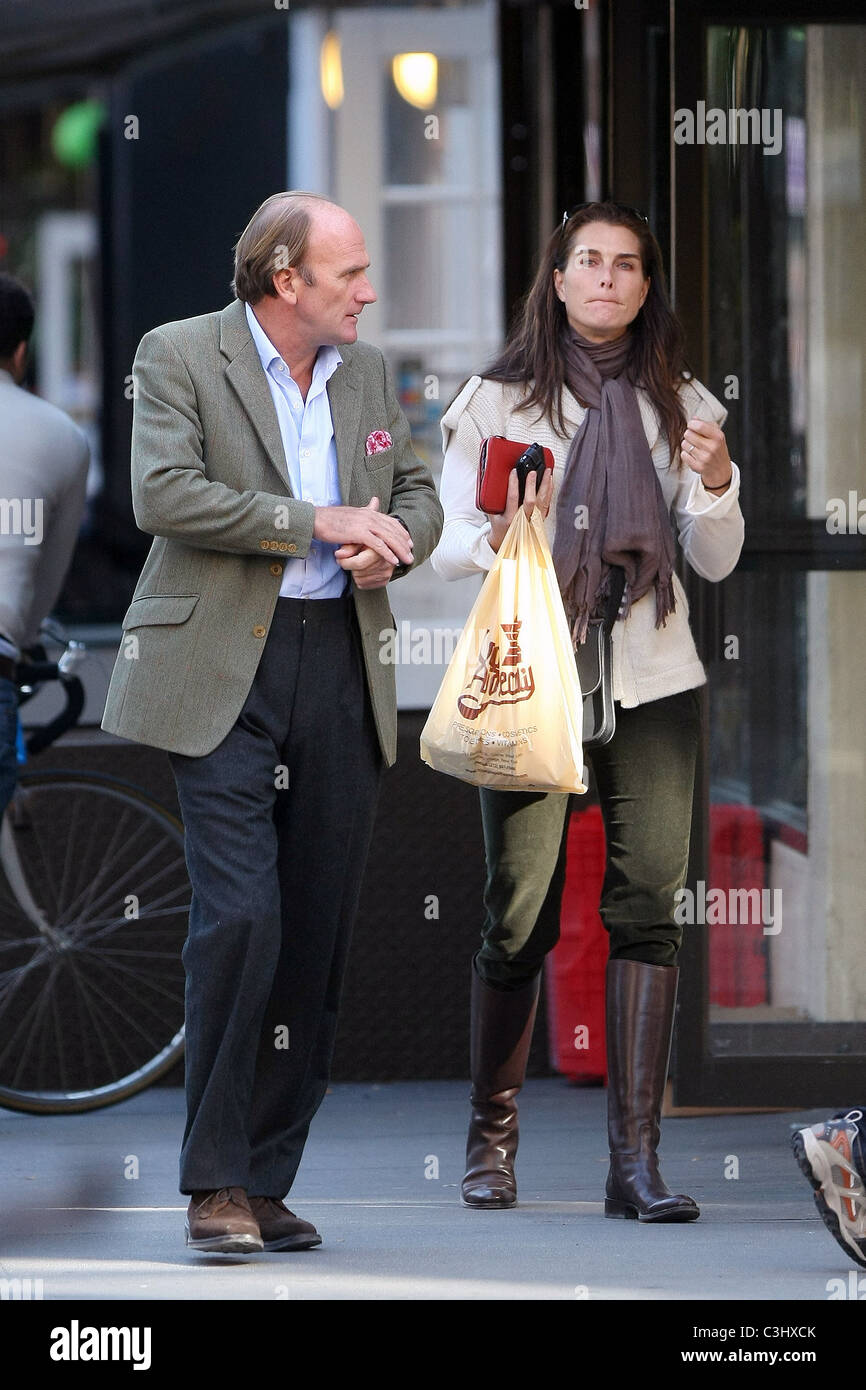 Brooke Shields apartment hunting in SoHo with a friend New