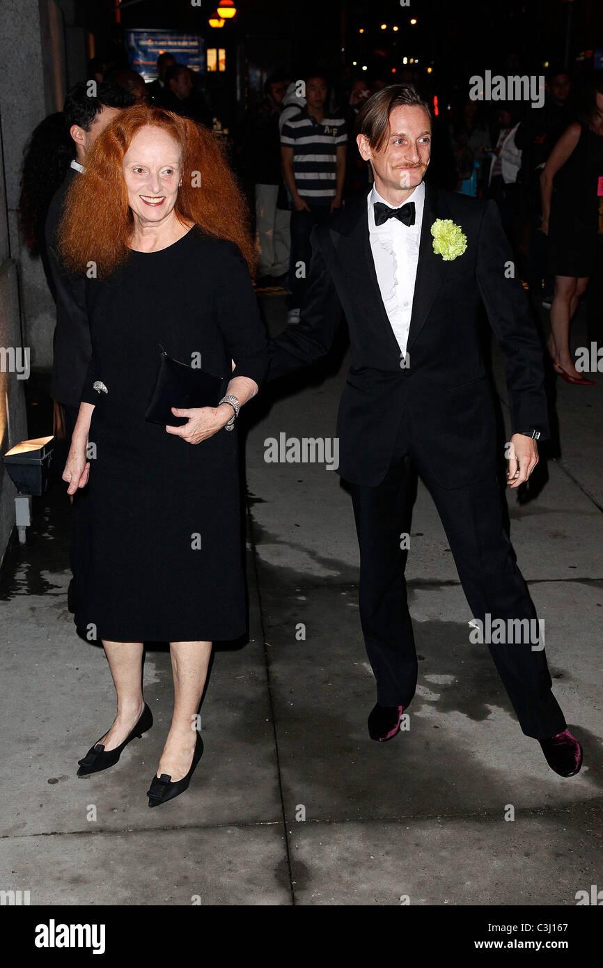 Grace Coddington and Hamish Bowles Fashion Group International's 26th annual Night Of Stars at Cipriani Wall - Stock Image
