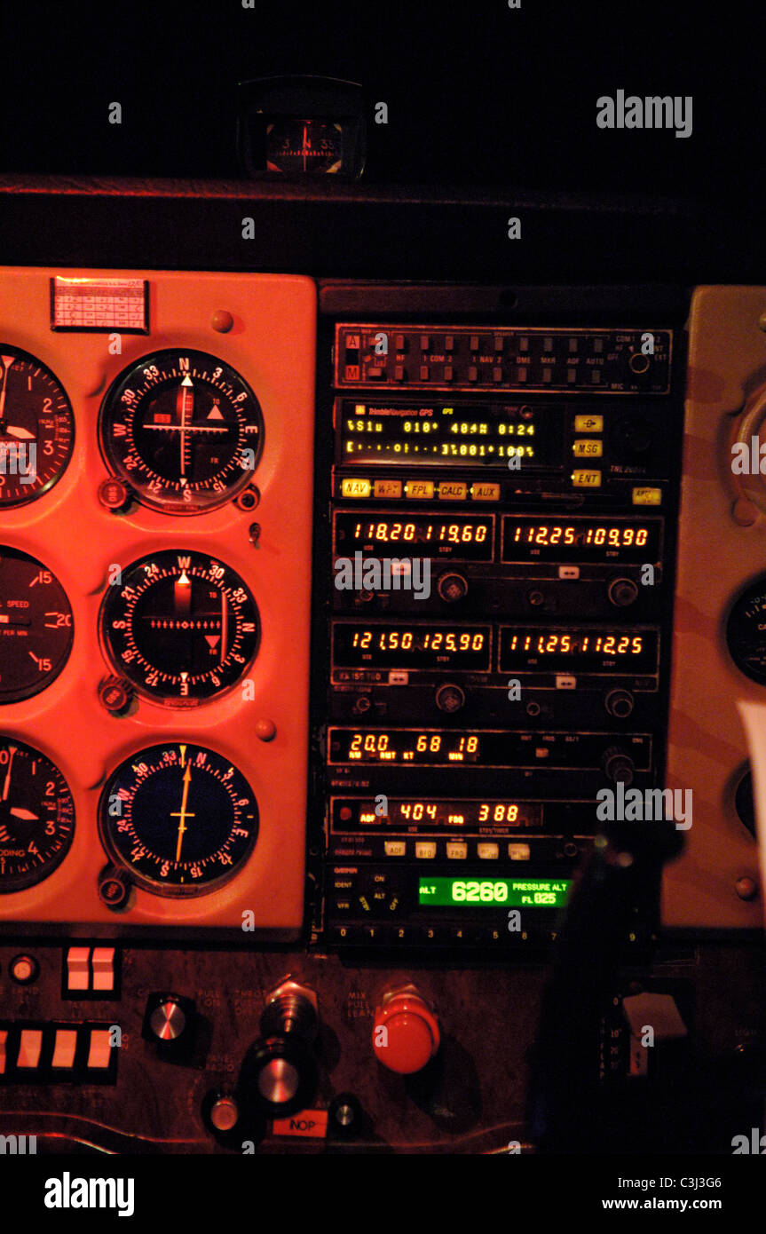 Radios communications and navigation flying instruments