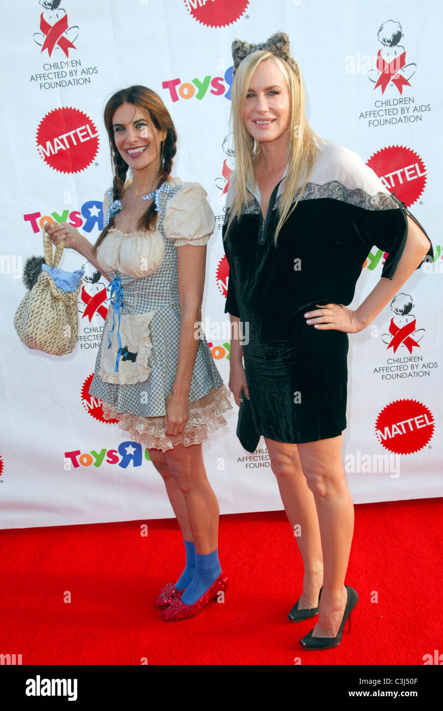 Hilary Shepard, Daryl Hannah attends the Children Affected by Aids  Foundations 16th Annual Dream Halloween at Barker Hanger