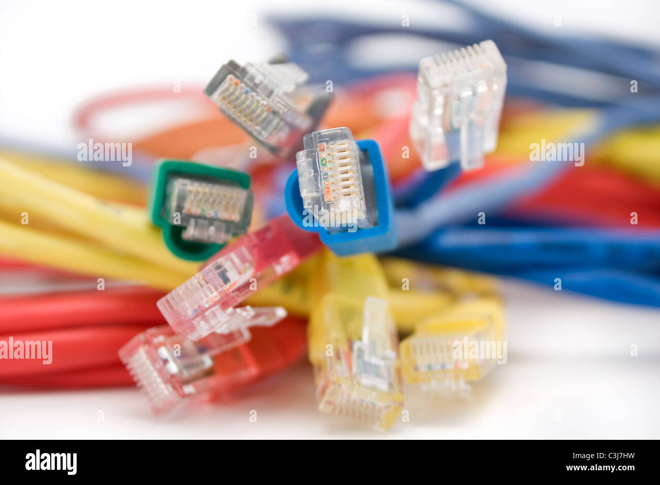 Utp Stock Photos Images Alamy Cable Wiring Colorful Cables Close Up Image